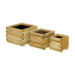 ξύλινη γλάστρα τετράγωνη