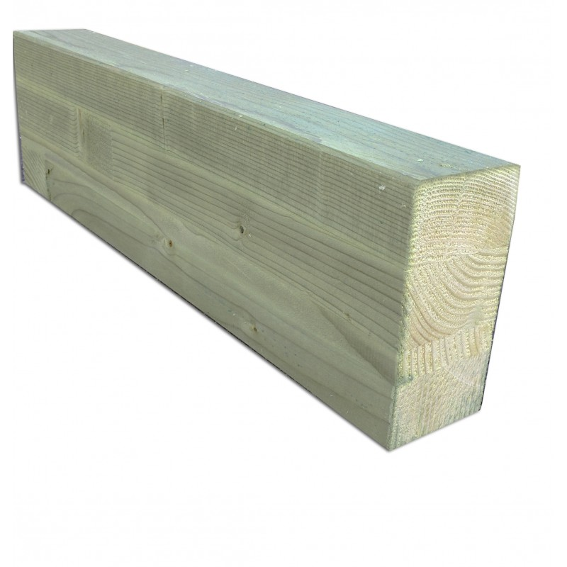 Glue-laminated treated post  6x14cm