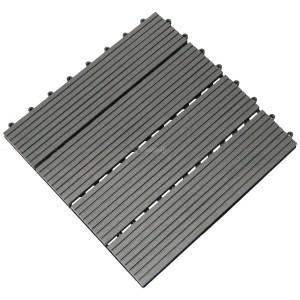 WPC decking tile grey