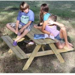 Ξύλινο παιδικό τραπέζι - πάγκος