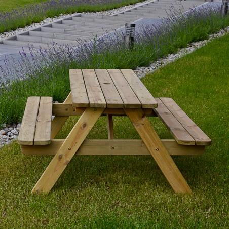 ξύλινο τραπέζι πάγκος