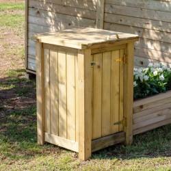 Wooden trash bin