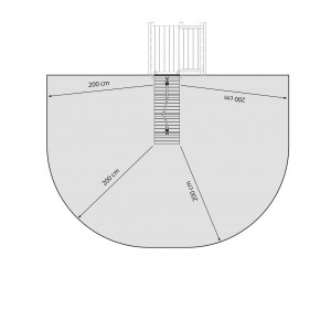 playground tower ramp module