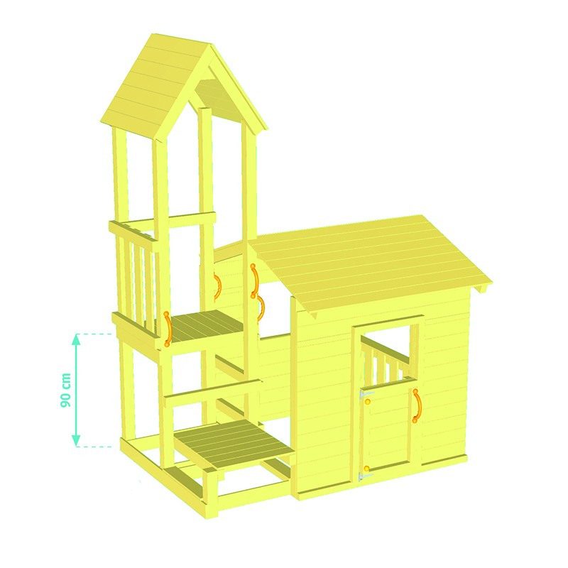 Playground tower Lookout + Swing Basic