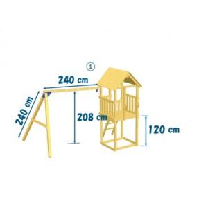 Kiosk tower with Swing module