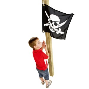 Flag with hoisting system pirates