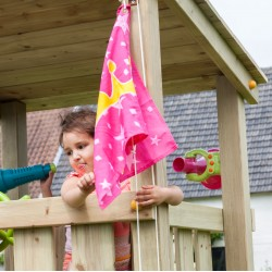 Flag with hoisting system...