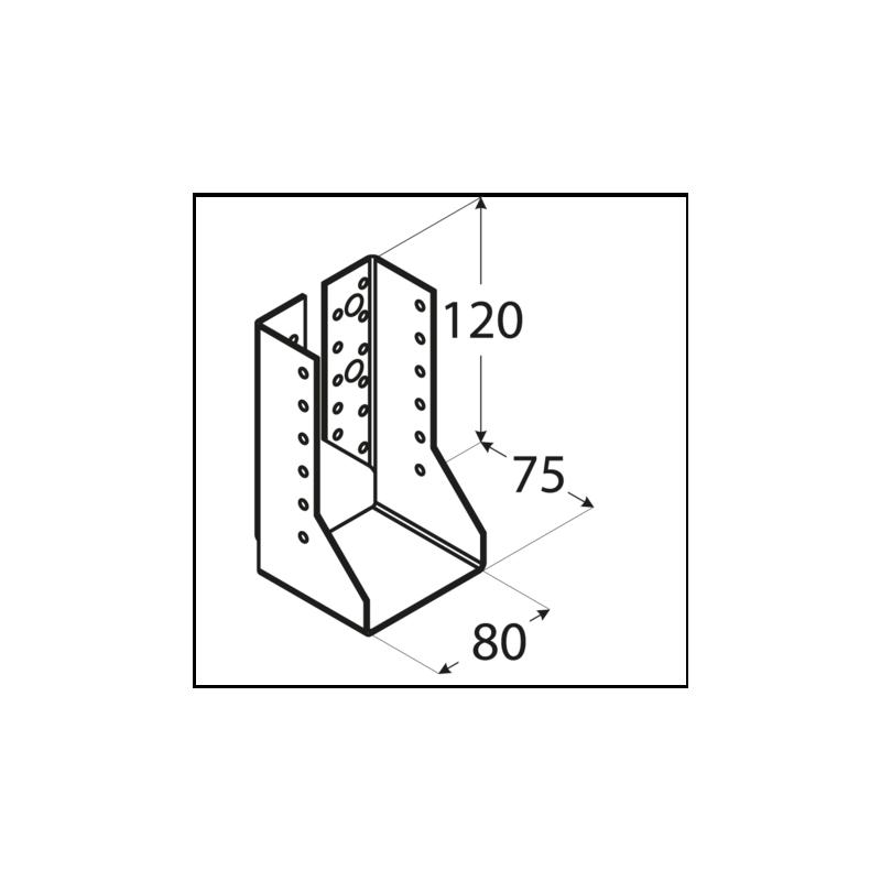 Folded joist hanger