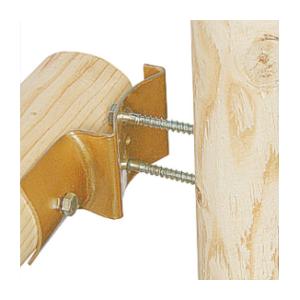 Round fence post bracket