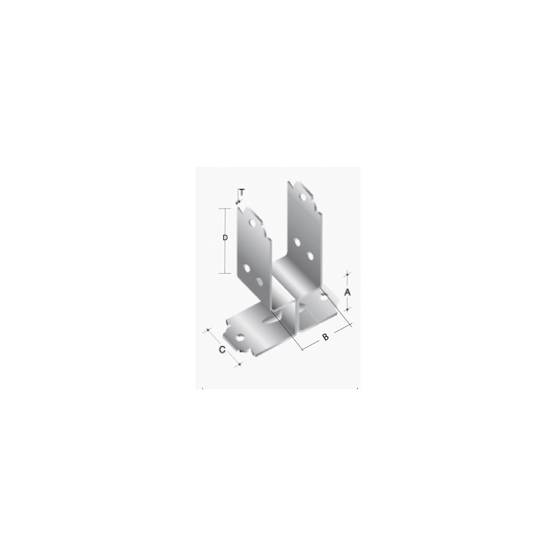 Split stainless steel pergola base (2pcs)