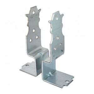 Post base galvanised set 2pcs