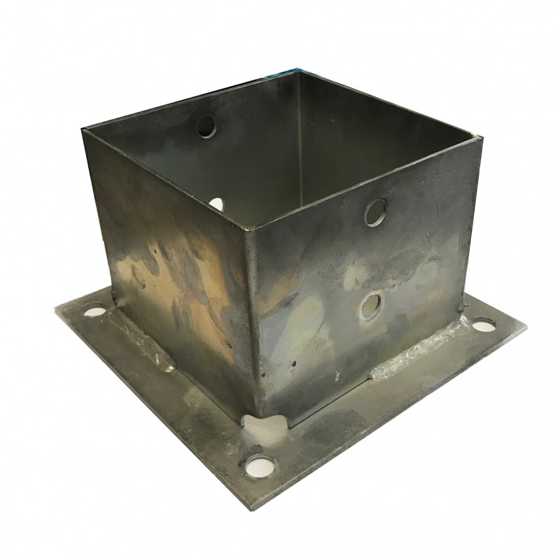 POST BASE WITH BASEPLATE Nr 12 (10cm (h))