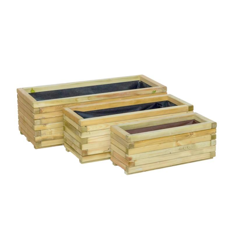 ξύλινη γλάστρα παραλληλόγραμμη