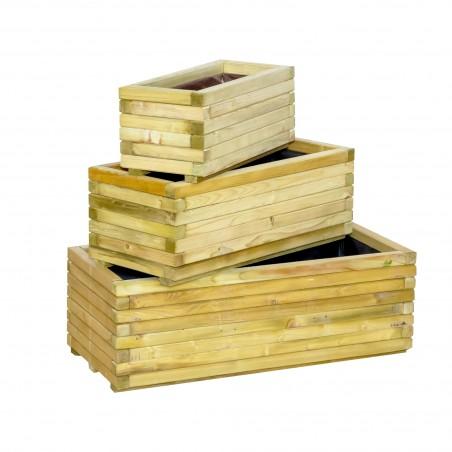 ξύλινη γλάστρα εμποτισμένη