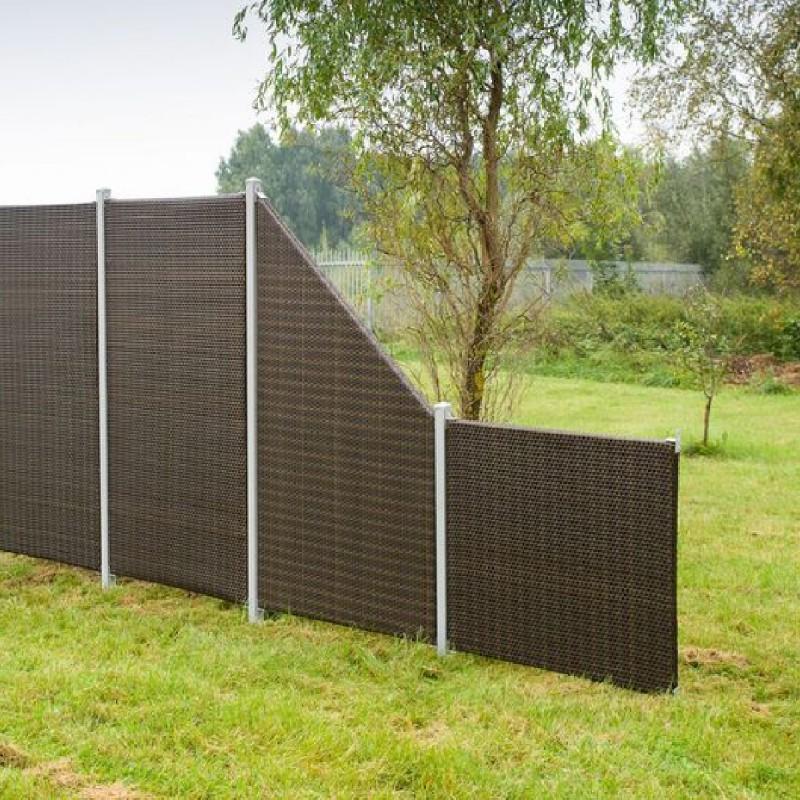techno-rattan fencing panel