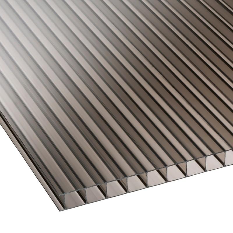 Polycarbonate Sheet Honeycomp Bronze 10mm