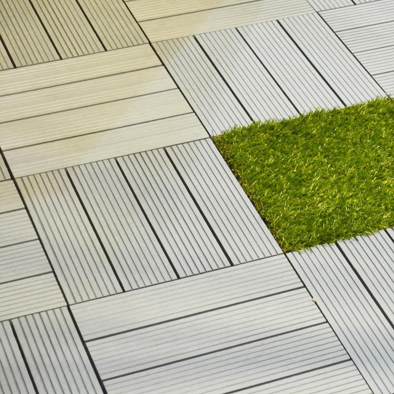 WPC decking tile light grey