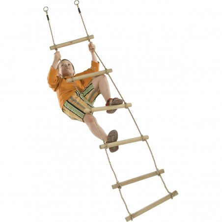 Wooden rugs rope ladder