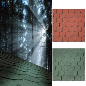 Curved roofing shingles