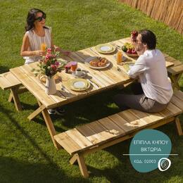 Θέλετε κάθε στιγμή στον κήπο σας να θυμίζει εκδρομή στην εξοχή; Τα ξύλινα έπιπλα κήπου Βικτώρια συνδυάζουν αισθητική με πρακτικότητα, είναι από συμπαγή ξυλεία και είναι σίγουρα η λύση, που αναζητάτε!   Βρείτε τα στο #eshop μας ➡️ Link in Bio   #SHOWOOD #Outdoorproducts #ValuableByNature #PolycarbonateSheets  #deckingboards #PressureTreatedTimber #WoodenHouses #GardenHouses #Gardenshed #warehouse #pergola #gardening #wooden #wood #woodworking #woodwork #wooddesign #woodcraft #woodlovers #woodart #furniture #outdoor #decoration #outdoorfurniture #outdoordecoration #diy #wholesale #lumber #timber